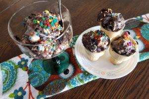 Homemade Oreo Vanilla Marshmallow Ice Cream